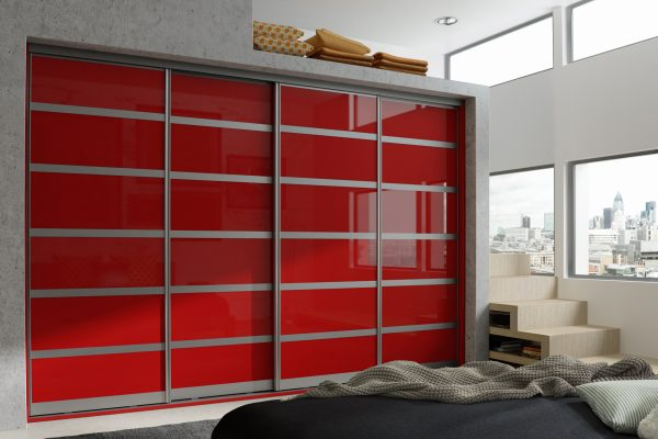 Set 3 Aluminium - Chilli Red Mirror Gloss