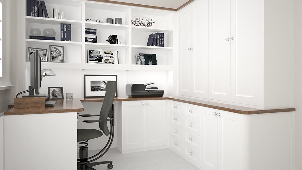 beautiful bespoke built in fitted home office furniture