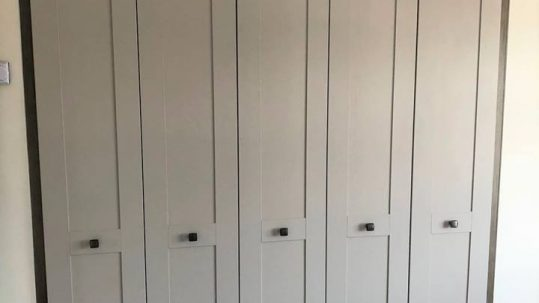 grey matt angled wardrobes